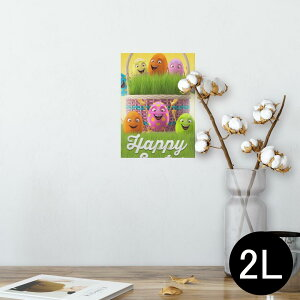 ポスター ウォールステッカー シール式ステッカー 飾り 127×178mm 2L 写真 フォト 壁 インテリア おしゃれ  剥がせる wall sticker poster 006961 卵 エッグ カラフル