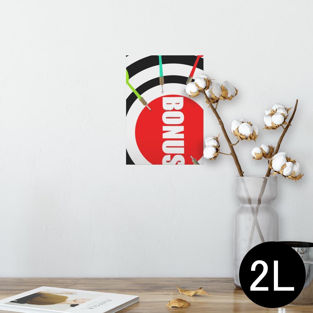 ポスター ウォールステッカー シール式ステッカー 飾り 127×178mm 2L 写真 フォト 壁 インテリア おしゃれ  剥がせる wall sticker poster 007315 ダーツ カラフル 赤 レッド