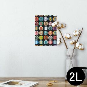 ポスター ウォールステッカー シール式ステッカー 飾り 127×178mm 2L 写真 フォト 壁 インテリア おしゃれ  剥がせる wall sticker poster 008765 カラフル アイコン 卵 エッグ