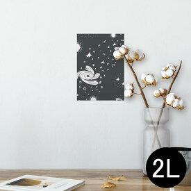 ポスター ウォールステッカー シール式ステッカー 飾り 127×178mm 2L 写真 フォト 壁 インテリア おしゃれ  剥がせる wall sticker poster 011128 宇宙 惑星 星