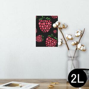 ポスター ウォールステッカー シール式ステッカー 飾り 127×178mm 2L 写真 フォト 壁 インテリア おしゃれ  剥がせる wall sticker poster 011804 いちご ポップ 果物