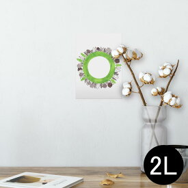 ポスター ウォールステッカー シール式ステッカー 飾り 127×178mm 2L 写真 フォト 壁 インテリア おしゃれ  剥がせる wall sticker poster 014213 風景 木 植物