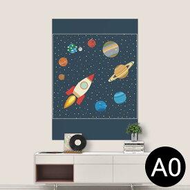 ポステッカー ポスター ウォールステッカー シール式ステッカー 飾り 841mm×1189mm A0 写真 フォト 壁 インテリア おしゃれ 剥がせる wall sticker poster 015993 太陽系 宇宙 惑星