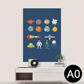 ポステッカー ポスター ウォールステッカー シール式ステッカー 飾り 841mm×1189mm A0 写真 フォト 壁 インテリア おしゃれ 剥がせる wall sticker poster 015994 太陽系 宇宙 惑星