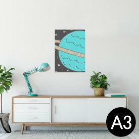ポスター ウォールステッカー シール式ステッカー 飾り 297×420mm A3 写真 フォト 壁 インテリア おしゃれ  剥がせる wall sticker poster 011137 宇宙 惑星 星