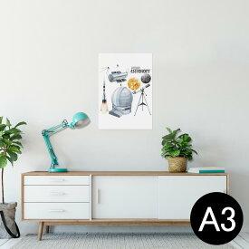 ポスター ウォールステッカー シール式ステッカー 飾り 297×420mm A3 写真 フォト 壁 インテリア おしゃれ  剥がせる wall sticker poster 013331 ロケット 宇宙 惑星