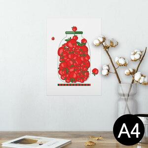 ポスター ウォールステッカー シール式ステッカー 飾り 210×297mm A4 写真 フォト 壁 インテリア おしゃれ  剥がせる wall sticker poster 009174 果物 赤 リンゴ