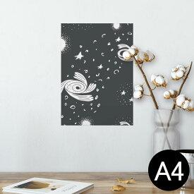 ポスター ウォールステッカー シール式ステッカー 飾り 210×297mm A4 写真 フォト 壁 インテリア おしゃれ  剥がせる wall sticker poster 011128 宇宙 惑星 星
