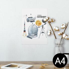 ポスター ウォールステッカー シール式ステッカー 飾り 210×297mm A4 写真 フォト 壁 インテリア おしゃれ  剥がせる wall sticker poster 013331 ロケット 宇宙 惑星