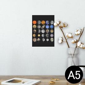 ポスター ウォールステッカー シール式ステッカー 飾り 148×210mm A5 写真 フォト 壁 インテリア おしゃれ  剥がせる wall sticker poster 002781 宇宙 惑星