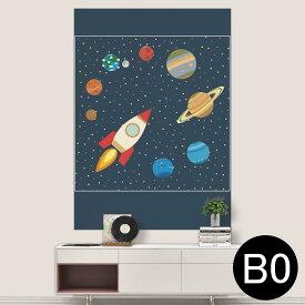 ポステッカー ポスター ウォールステッカー シール式ステッカー 飾り 1030mm×1456mm B0 写真 フォト 壁 インテリア おしゃれ 剥がせる wall sticker poster 015993 太陽系 宇宙 惑星