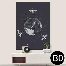 ポステッカー ポスター ウォールステッカー シール式ステッカー 飾り 1030mm×1456mm B0 写真 フォト 壁 インテリア おしゃれ 剥がせる wall sticker poster 016024 宇宙 地球 星