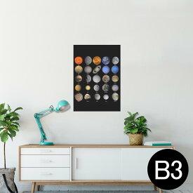 ポスター ウォールステッカー シール式ステッカー 飾り 364×515mm B3 写真 フォト 壁 インテリア おしゃれ  剥がせる wall sticker poster 002781 宇宙 惑星
