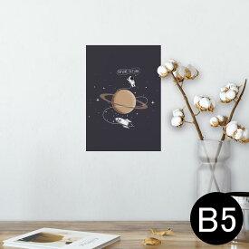 ポスター ウォールステッカー シール式ステッカー 飾り 182×257mm B5 写真 フォト 壁 インテリア おしゃれ  剥がせる wall sticker poster 013340 宇宙 惑星 星