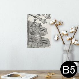 ポスター ウォールステッカー シール式ステッカー 飾り 182×257mm B5 写真 フォト 壁 インテリア おしゃれ  剥がせる wall sticker poster 014974 城 風景 イラスト 建物 外国