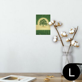 ポスター ウォールステッカー シール式ステッカー 飾り 89×127mm L版 写真 フォト 壁 インテリア おしゃれ  剥がせる wall sticker poster 001259 木 グリーン