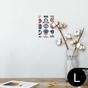 ポスター ウォールステッカー シール式ステッカー 飾り 89×127mm L版 写真 フォト 壁 インテリア おしゃれ  剥がせる wall sticker poster 004514 マリン ワッペン イラスト