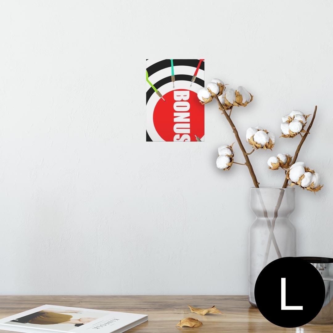 ポスター ウォールステッカー シール式ステッカー 飾り 89×127mm L版 写真 フォト 壁 インテリア おしゃれ  剥がせる wall sticker poster 007315 ダーツ カラフル 赤 レッド