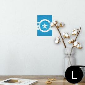 ポスター ウォールステッカー シール式ステッカー 飾り 89×127mm L版 写真 フォト 壁 インテリア おしゃれ  剥がせる wall sticker poster 011570 外国 階級 星