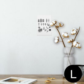 ポスター ウォールステッカー シール式ステッカー 飾り 89×127mm L版 写真 フォト 壁 インテリア おしゃれ  剥がせる wall sticker poster 014299 海 ヤシの木 トロピカル