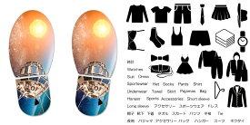 デザイン靴置きステッカー 大人用靴置き マーク くつ 収納 シール ステッカー 整理整頓 ウォールステッカー ラベルシール ミニマリスト 服 玄関 60×30cm 010462 宇宙 惑星 写真