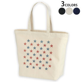 デザイントートバッグ Lsize キャンバス デイパック バッグ レディースバッグ ホワイト ブラック ネイビー white black navy  012369 赤 青 星