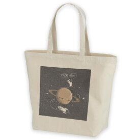 デザイントートバッグ Lsize キャンバス デイパック バッグ レディースバッグ ホワイト ブラック ネイビー white black navy  013340 宇宙 惑星 星