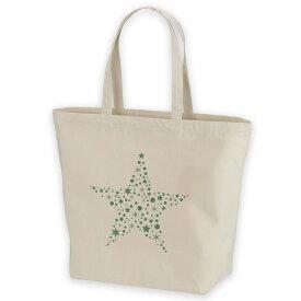 デザイントートバッグ Lsize キャンバス デイパック バッグ レディースバッグ ホワイト ブラック ネイビー white black navy  013810 クリスマス 星