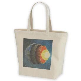 デザイントートバッグ Lsize キャンバス デイパック バッグ レディースバッグ ホワイト ブラック ネイビー white black navy  015910 太陽系 宇宙 惑星