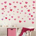 ウォールステッカー バレンタイン Valentine 飾り ハート ガーランド 60×60cm シール式 装飾 告白 おしゃれ 壁紙 はがせる 剥がせる カッテ...