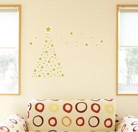 ウォールステッカー 飾り 90×90cm シール式 装飾 おしゃれ 壁紙 はがせる 剥がせる カッティングシート wall sticker 雑貨 DIY プチリフォーム パーティー イベント 賃貸 009490 クリスマス ツリー 星