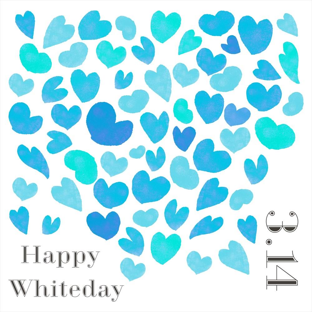 ホワイトデー☆ シール式ウォールステッカー ウォールステッカー 飾り 90×90cm 3月14日 ハート 青 緑 プレゼント whiteday 壁紙 はがせる 剥がせる カッティングシート wall sticker 雑貨 ガラス 窓 DIY 013634 ウォールステッカー