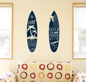 ウォールステッカー 飾り 90×90cm シール式 装飾 おしゃれ 壁紙 はがせる 剥がせる カッティングシート wall sticker 雑貨 DIY プチリフォーム パーティー イベント 賃貸 013788 サーフィン ヤシの木 海