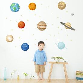 宇宙・惑星☆ シール式ウォールステッカー宇宙・惑星☆ シール式ウォールステッカー ウォールステッカー 飾り 90×90cm プラネット 地球 アース 月 月の満ち欠け 太陽系 solar system 剥がせる カッティングシート wall sticker 雑貨 DIY 016091