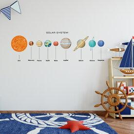 宇宙・惑星☆ シール式ウォールステッカー宇宙・惑星☆ シール式ウォールステッカー ウォールステッカー 飾り 90×90cm プラネット 地球 アース 月 月の満ち欠け 太陽系 solar system 剥がせる カッティングシート wall sticker 雑貨 DIY 016093