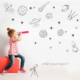 宇宙・惑星☆ シール式ウォールステッカー宇宙・惑星☆ シール式ウォールステッカー ウォールステッカー 飾り 90×90cm プラネット 地球 アース 月 月の満ち欠け 太陽系 solar system 剥がせる カッティングシート wall sticker 雑貨 DIY 016096
