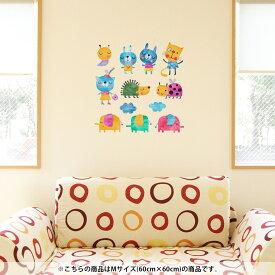 ウォールステッカー 飾り 60×60cm シール式 装飾 おしゃれ 壁紙 はがせる 剥がせる カッティングシート wall sticker 雑貨 DIY プチリフォーム パーティー イベント 賃貸 009791 動物 うさぎ キャラクター
