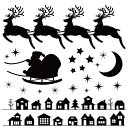 ウォールステッカー クリスマス Christmas 飾り 60×60cm Msize シール式 装飾 オーナメント ツリー リース 2019 xmas Xmas 壁紙 はがせる 剥がせる カッティングシート wall sticker 雑貨 ガラス 窓 DIY サンタ プチリフォーム パーティー イベント 賃貸 サンタ