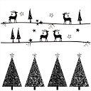 ウォールステッカー クリスマス Christmas 飾り 400×900mm Msize シール式 装飾 オーナメント ツリー リース xmas Xm…