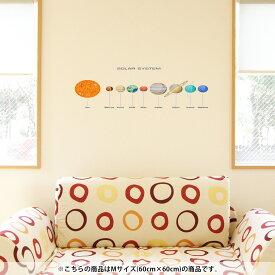 ウォールステッカー 飾り 60×60cm シール式 装飾 おしゃれ 壁紙 剥がせる DIY プチリフォーム パーティー 賃貸 015931 太陽系 宇宙 惑星