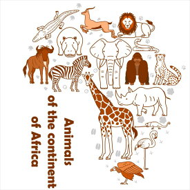 陸の生物☆シール式ウォールステッカー 動物 animal 鳥 きりん ぞう 犬 猫 飾り 60×60cm 剥がせる カッティングシート wall sticker 雑貨 016536