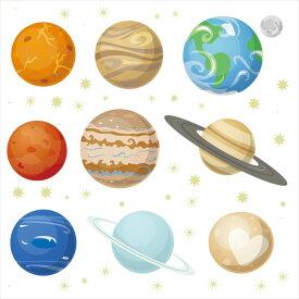 宇宙・惑星☆ シール式ウォールステッカー ウォールステッカー 飾り 30×30cm プラネット 地球 アース 月 月の満ち欠け 太陽系 solar system 剥がせる カッティングシート wall sticker 雑貨 DIY 016091