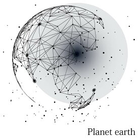 宇宙・惑星☆ シール式ウォールステッカー ウォールステッカー 飾り 30×30cm プラネット 地球 アース 月 月の満ち欠け 太陽系 solar system 剥がせる カッティングシート wall sticker 雑貨 DIY 016100