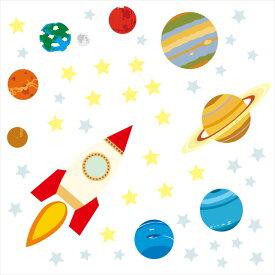 宇宙・惑星☆ シール式ウォールステッカー ウォールステッカー 飾り 30×30cm プラネット 地球 アース 月 月の満ち欠け 太陽系 solar system 剥がせる カッティングシート wall sticker 雑貨 DIY 016108