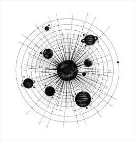 宇宙・惑星☆ シール式ウォールステッカー ウォールステッカー 飾り 30×30cm プラネット 地球 アース 月 月の満ち欠け 太陽系 solar system 剥がせる カッティングシート wall sticker 雑貨 DIY 016111