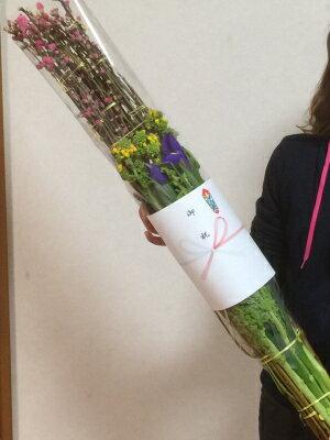 桃の花束熨斗付き