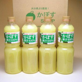 かぼす果汁100%L×4本入