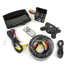 オンダッシュモニター バックカメラ 7インチ 液晶モニター セット 12V/24V対応 液晶バックモニター/ヘッドレスト バックモニター