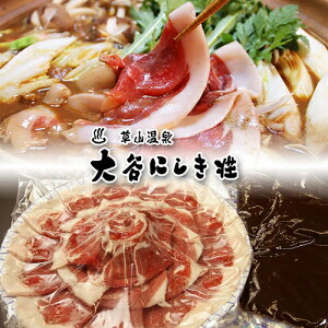 【送料無料】国産天然しし肉 花盛ぼたん鍋セット(4人前・600g)