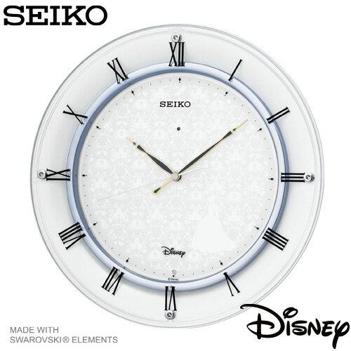 【ディズニー 電波時計 掛け時計】 FS503W セイコー SEIKO ディズニータイム シンデレラ スワロフスキー 【名入れ】 【Disneyzone】 【お取り寄せ】【20%OFF】 【父の日 ギフト 結婚祝】【新生活 応援】